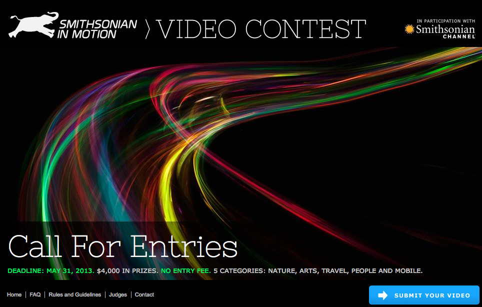 Want to Win Money and Be Featured on Smithsonian Channel? Enter the Smithsonian Magazine Video Contest Today! Since In Motion launched on February 20 we have been amazed at the videos that have been submitted. Danny Cooke's letterpress video shined new light on a classic art form. Mike Kvackay captured the beauty of Michigan's Upper Peninsula for the world to see and Khurrum M. Sultan told the story of a young Pakistani boy who must care for his family after the tragic death of his father. Check out the In Motion page on Smithsonian.com for more videos and information about the contest. Be sure to bookmark the In Motion blog for the latest editor's pick video. Ready to submit your video? Head over to the submission page for your chance to win our grand prize!