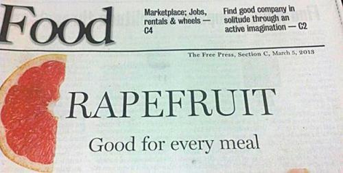 Good for every meal. I'm not sure that's a fruit I want to try.
