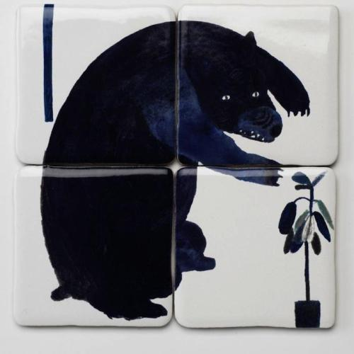 (vía Where the Wild Things Are: Tiles from Laura Carlin : Remodelista)