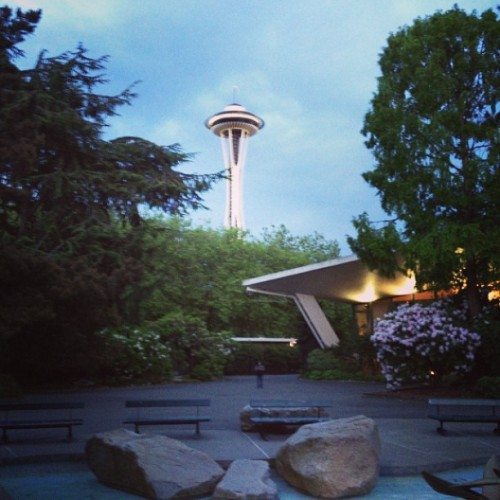 Space needle on a glorious Friday evening! (at The Vera Project)