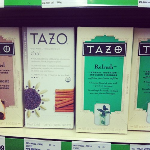Anyone else see the redesign? Its quiet uhh … Yeah #tazo #tea #packaging