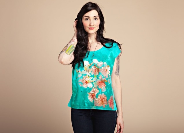 Very excited that my design has been printed by Threadless! Pool of Blossom dolman T-shirt available now.