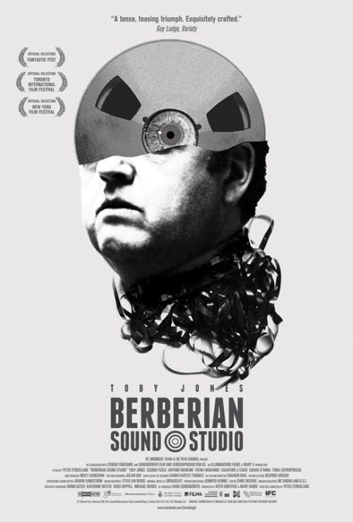"Official one-sheet I designed for the US release of ""Berberian Sound Studio""."