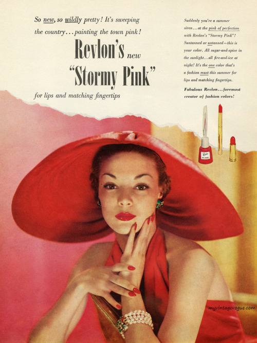 myvintagevogue:  Jean Patchett / Revlon 1950