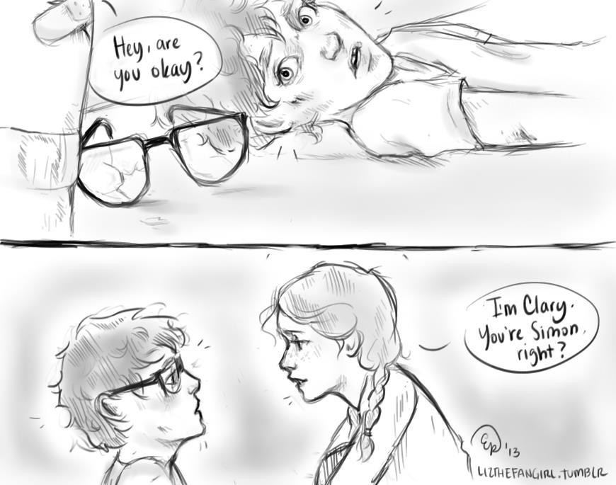 lizthefangirl:  jacevishus:   The first meeting of Simon Lewis and Clary Fray  Holyshitholyshitholyshit  good to hear that