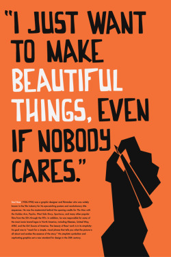 here is to one of the best — Saul Bass
