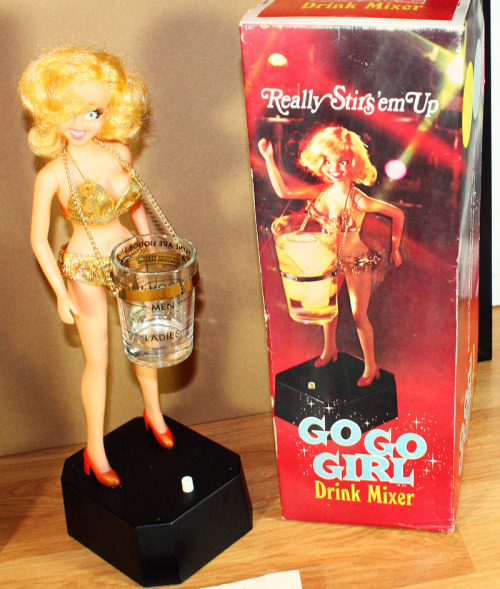 Mechanical Go-Go Girl Drink Mixer c. 1969 (x)