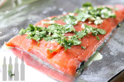 I am making the lime cilantro salmon the anon sent me. :D