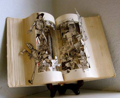 """The Land of Oz"" Altered Book Sculpture by Raidersofthelostart"