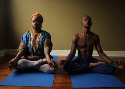 blackyogis:  Lotus pose    Padmasana Jerome & Jaguar of House of Fire Yoga in Baltimore. Thank you for your photo submission.