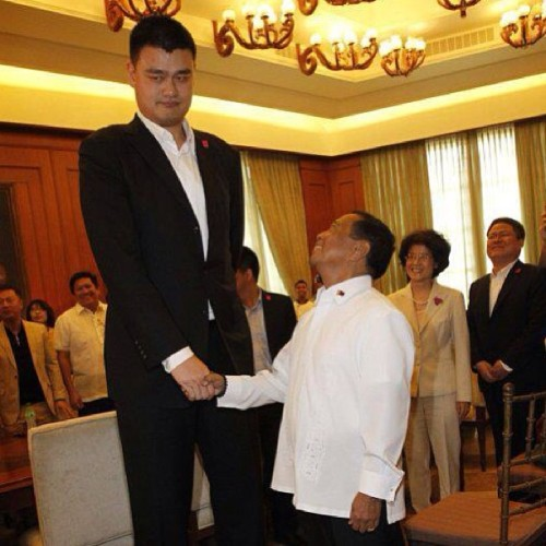 #yaoming and #binay hahah. How's the weather down there?