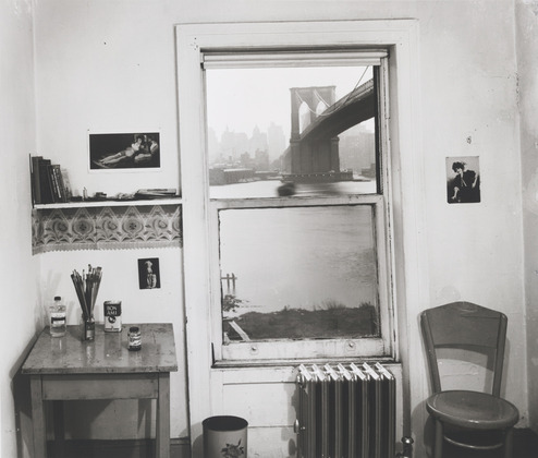 wonderfulambiguity:  Rudy Burckhardt, A View From Brooklyn II, 1954  !!!!!!