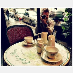 Day in the rain #loveparis #cafedeflore #stgermain  (at Café de Flore)