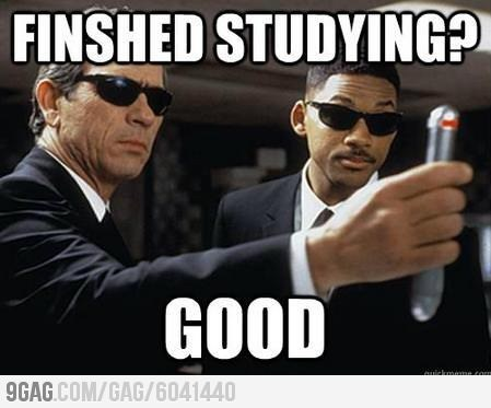 9gag:  How I feel during finals