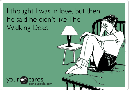 Love and The Walking Dead Ecard