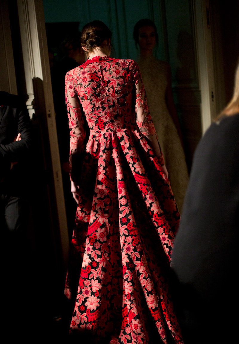 Backstage Valentino couture, spring 2013 photographed by Kevin Tachman
