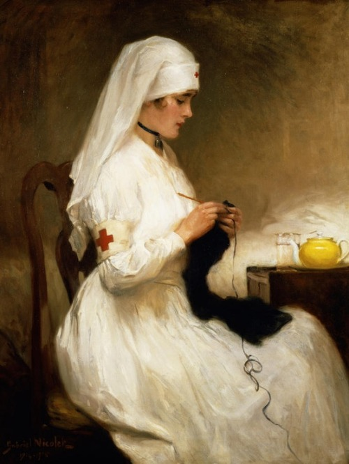 snowce:  Gabriel Emile Niscolet, Portrait of a Nurse from the Red Cross