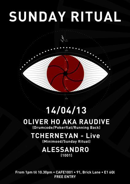 Sunday Ritual is back at Cafe1001 on April 14th.Oliver Ho aka Raudive (Pokerflat) is our special guest of the month. Expect some trippy vibes at Room 2 from 13:00 to 22:30. FREE ENTRY