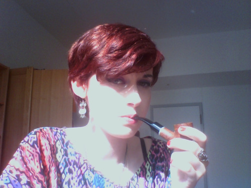 furryham:  Enjoying my pipe on a sunny Thursday afternoon.