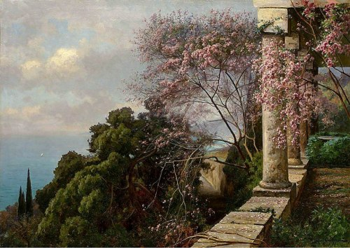 catonhottinroof:  Iosif Krachkovsky   (1854-1914)   Spring in Crimea