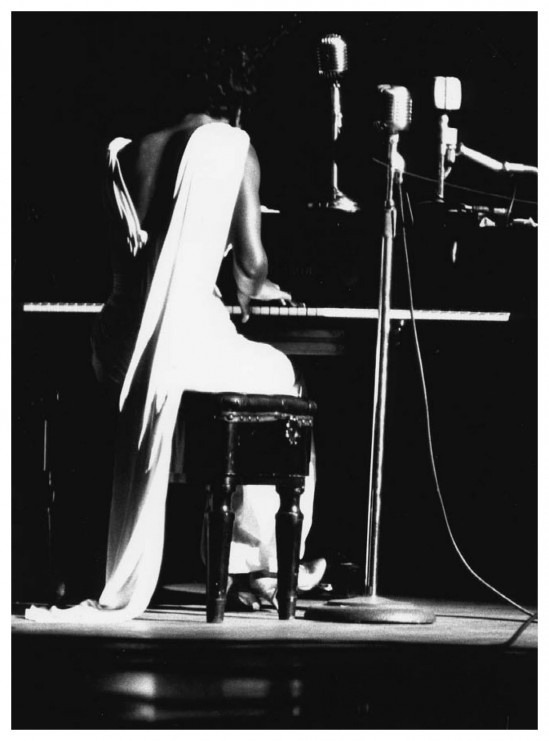 "The great Nina Simone would've been 80 today. This quietly breathtaking photograph was taken at NYC's Town Hall in 1959 and is part of William Gottlieb's photos of jazz icons. Celebrate Simone's legacy with Francine Prose's poignant meditation on the powerful political message in the singer's ""Strange Fruit."" (via explore-blog:)"