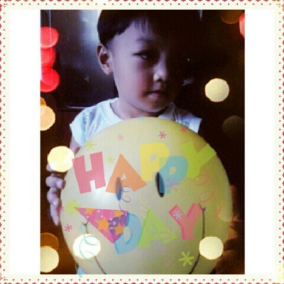 Happy Birthday Daniel!!! Tita loves youu :) #daniel #happy #birthday #balloon #smile