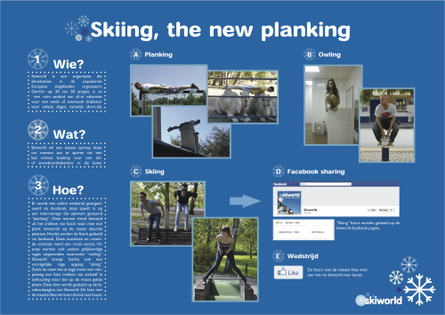 "Skiworld campaign; making ""skiing"" the new ""planking"""