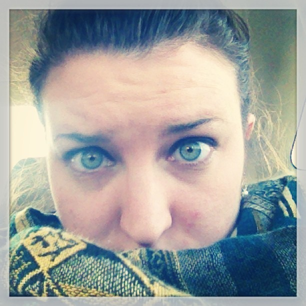 Bundled up in the middle of nowhere… #fun #not #scarf #green #eyes #cold #whereami #helpme #tired #family #instagood #instadaily #instaddict #igers