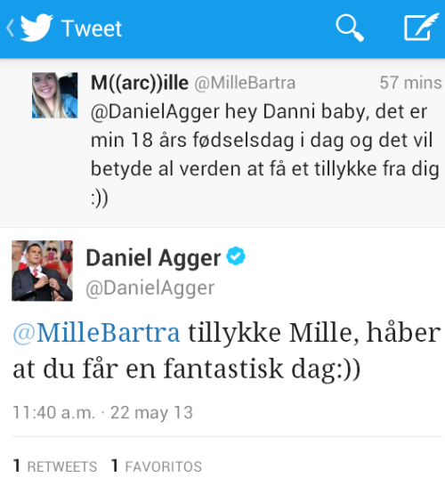 Mille!!!! Asdfghjkl!!! Am I the only excited because Danny tweeted this lovely girl? He's so sweet and nice. HAPPY BIRTHDAY SWEETIE!!