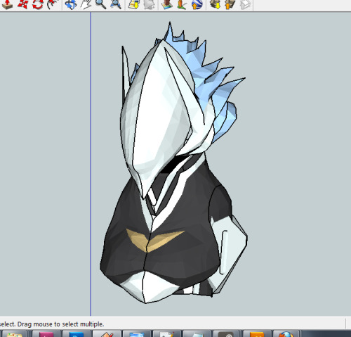 The helmet is going to be about 150% bigger than Hakumen, but it should be much smaller and comfortable than Karas.