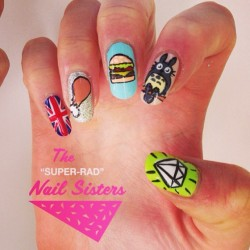 #nailart #nailsisters #nailartmelbourne #nailartinmelbourne #melbournenailart #superradnailsisters #radnailsisters #totoro #foodnails #flossgloss  (at The Super Rad Nail Sisters HQ)