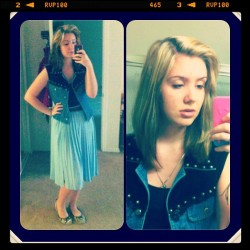 #me #ootd #look #blond #girl #hair #vest #skirt #follow #instafollow #summer  (at Its Way Past Carries bedtime)