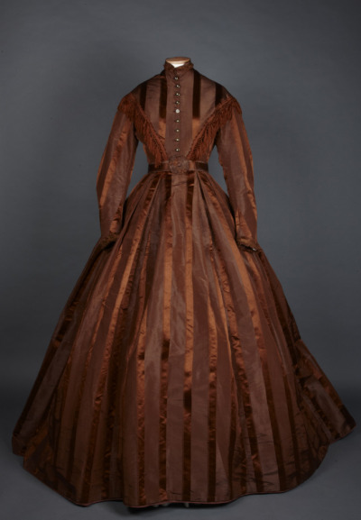 fripperiesandfobs:  Day dress, 1860-70 From the National Trust
