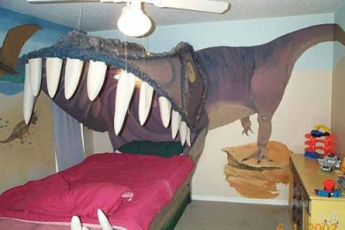 The Best Dinosaur Bed You've Ever Seen The only downside is that it does actually eat you and you die.