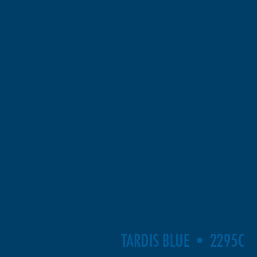 BBC Authorised TARDIS Blue. Pantone 2295C