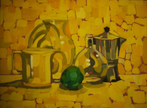 Still life in oils- freshman year