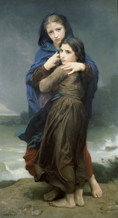jeroendstoutpaintings:  Far from Home, William-Adolphe Bouguereau (1825-1905)