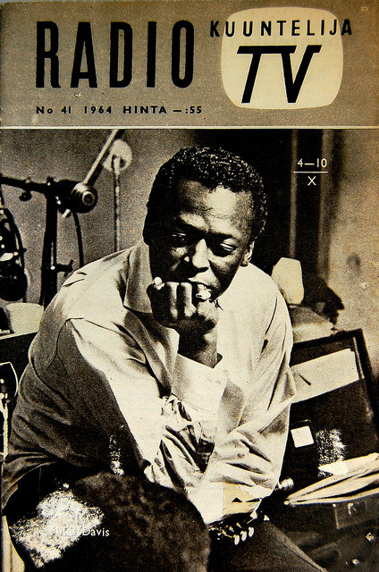 Today's cool Miles Davis photo: Our man on the cover of a magazine nobody's ever heard of from a country nobody's ever been to.  Don't forget to check out GOING MILES! (http://www.alangoldsher.com/Going_Miles/Going_Miles.html) New update on Monday!