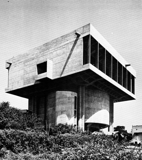 fuckyeahbrutalism:  Indian National Theater, Mumbai, India, 1973 (Shivnath Prasad)