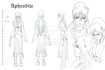 Character Design - Aphrodite by *Reenave  First character designed for a new story ^^
