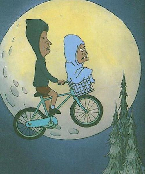Beavis and Butthead ride fixie.