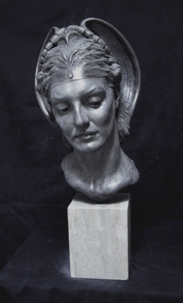 statuemania:  Herodias, Mother of Salome. by Cody Swanson,  Bronze with silver patina Life size, 2006.