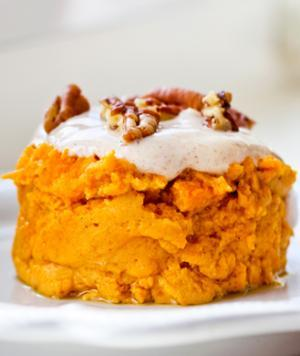 Some days I really need something sweet! And I love pumpkin at any time of year. This recipe is dead easy, low fat and so yummy! You can easily double it up too! VISIT www.jaydenicole.com for lots of great healthy recipes! Pumpkin Pie for One ½ C pumpkin puree (canned) ¼ C egg whites ½ tsp sweetener (Splenda, etc) ½ tsp of pumpkin pie spice or ¼ tsp of cinnamon and nutmeg Topping: ½  tbsp fat free Greek yogurt and fat free cream cheese ¼ tsp of each pumpkin pie spice and sweetener -for topping Directions: Mix together the puree, egg whites, sweetener and spices and place in a small microwavable container. Microwave on high for 2 minutes and let cool. Mix yogurt, cream cheese, sweetener and spice together and spread over pie.  Serves 1.