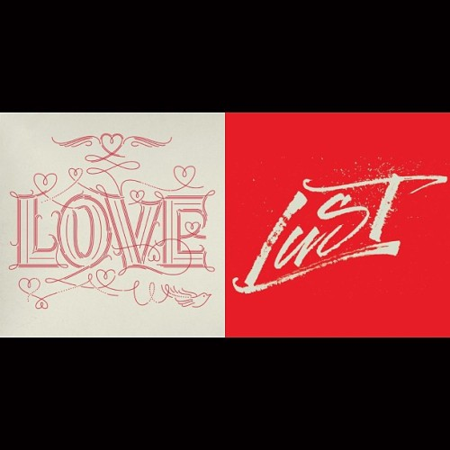 Love Lust at letteringvscalligraphy.com @martinaflor #letter #lettering #calligraphy #lvsc