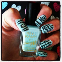 Original Poster Says: Aztec nails with Barry M! - Imgur
