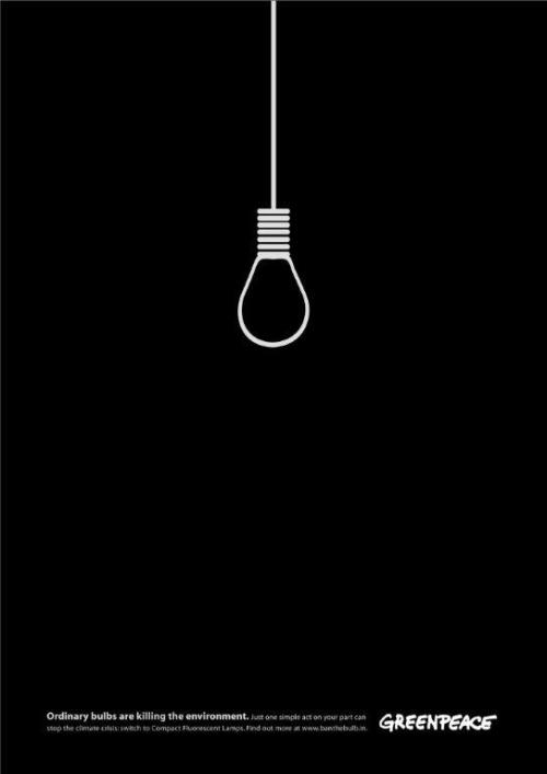 Awesome minimalist print ad by Greenpeace