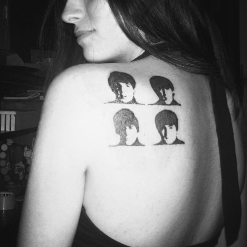 Here's my tattoo, The Beatles the soundtrack of my life