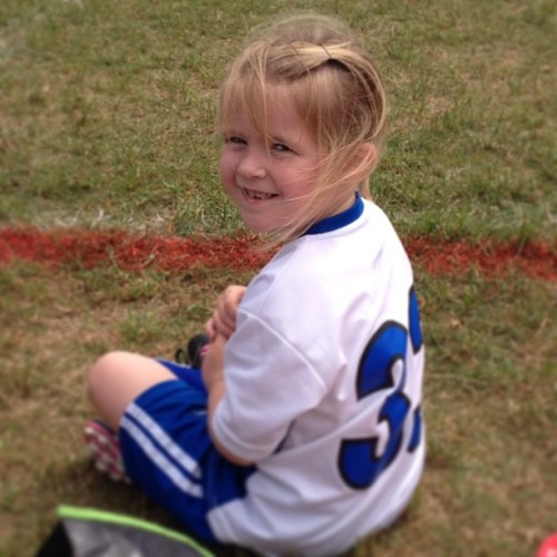 The littlest of my little cousins scored a goal at her game today! Yay Avery! #personal #cousinlove