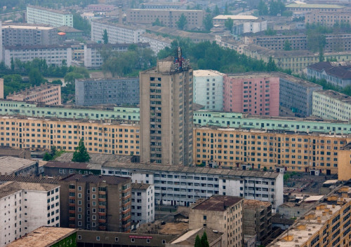 Pyongyang buildings view