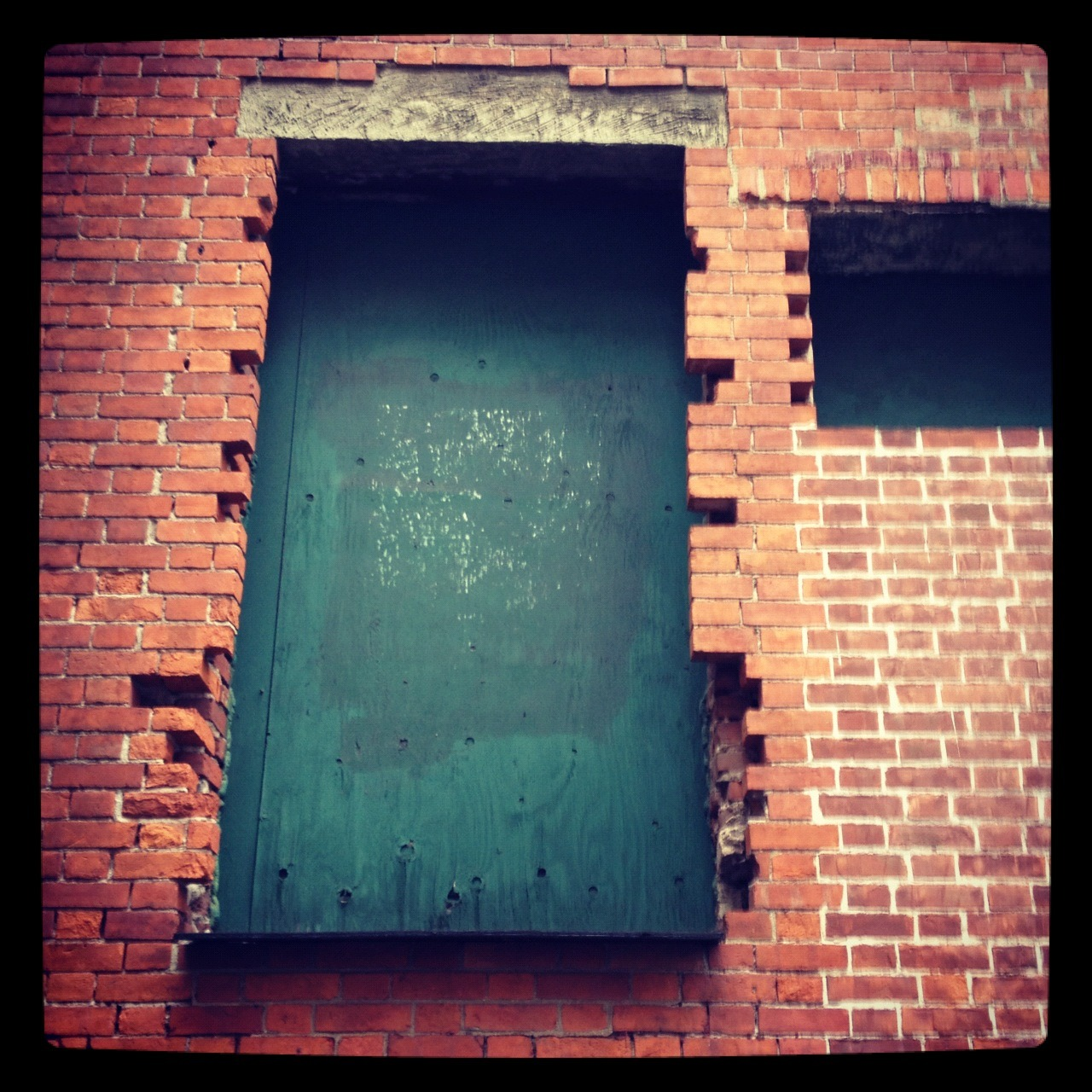 Photo I took of a doorway to nowhere, when I worked on Mercer Street in Soho